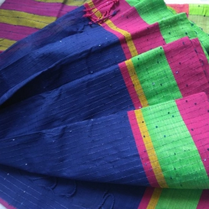 cotton chumki shree (blue)